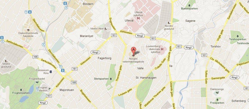 En mann truet med å skyte på Veterinærhøgskolen mandag.