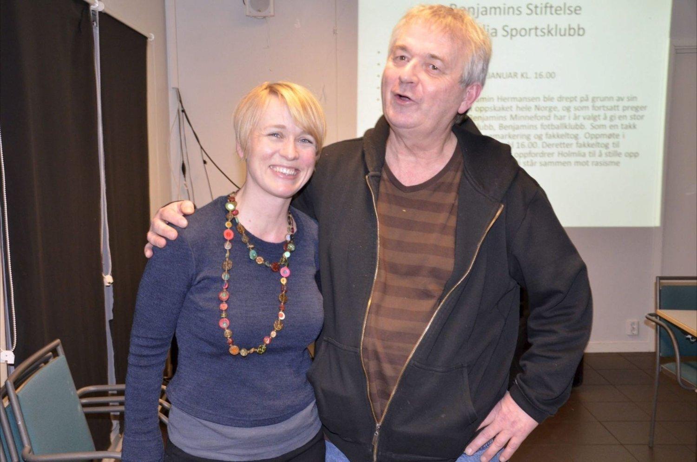 ENGASJERTE: Nina Tveit og Ove Bevolden er engasjerte for et godt fellesskapet i nærmiljøet. Her er de sammen på en konferanse i forrige uke, som blant annet tok for seg viktigheten av et godt samarbeid i bydel Søndre Nordstrand.BEGGE FOTO: FANNY B. OFSTAD