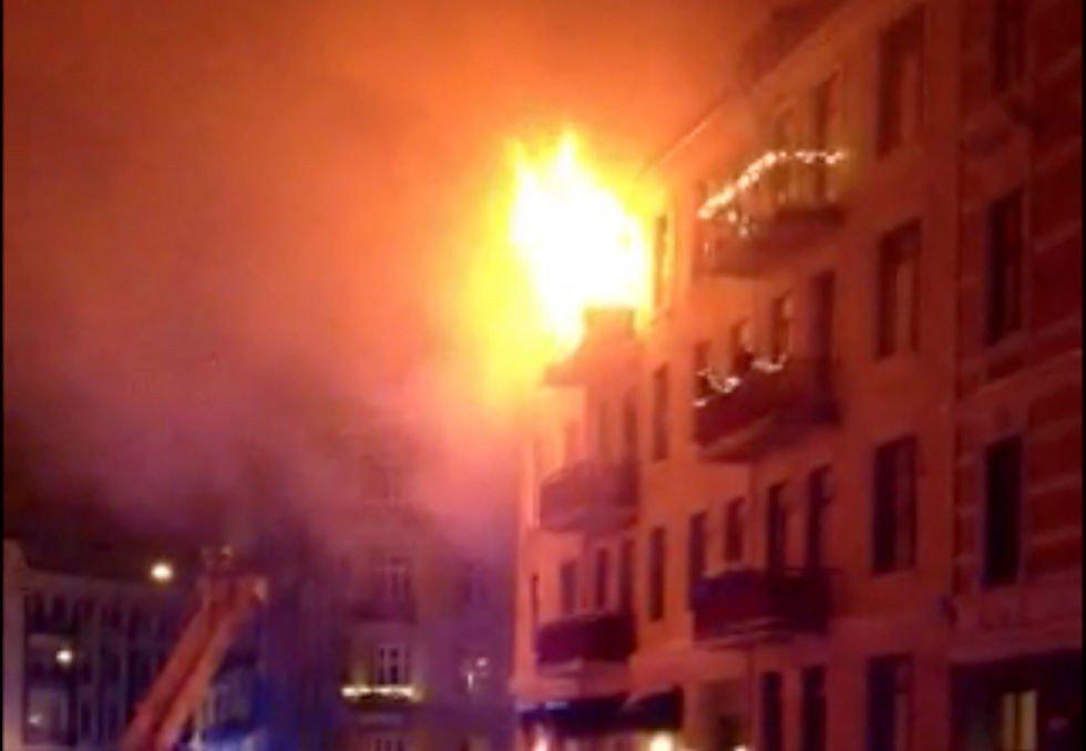 Det brant kraftig i leiligheten på Frogner.