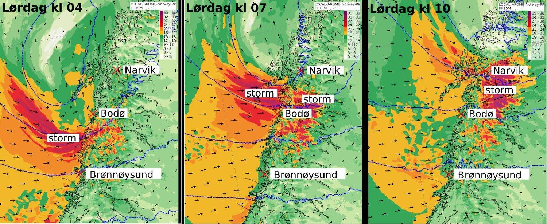 KAN BLI EKSTREMVÆR: Meteorologene i Tromsø har sendt ut et varsel om sterk storm i Nordland, som kan komme opp i kriterier for ekstremvær.