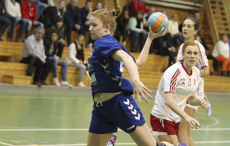 TOPPSCORER: Strekspiller Martine Wolff spilte en god match for NIF, og ble toppscorer med seks mål. FOTO: ARILD JACOBSEN