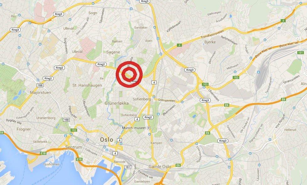 En kvinne ble påkjørt på Ring 2 ved Lilleborg.