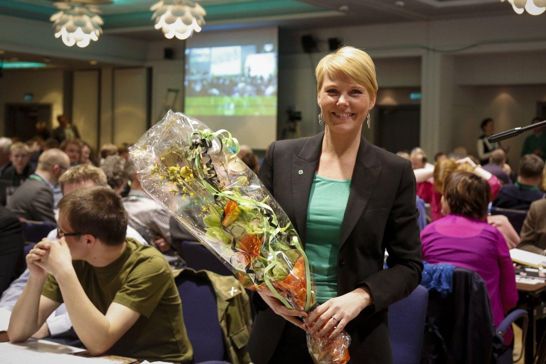 Her ble Anne Beate Kristiansen Tvinnereim valgt inn i sentralstyre i senterpartiet på Senterpartiets Landsmøte i Loen Foto: Alf Vidar Snæland / NTB scanpix