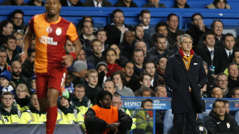 SKUFFET: Roberto Mancini var langt nede etter tapet mot Chelsea.