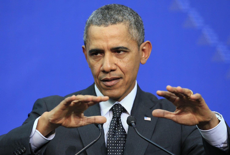 BESØKER BYEN: USAs president Barack Obama er på besøk i Brussel og skal møte NATOs generalsekretær.