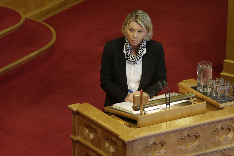 Næringsminister Monica Mæland under Stortingets spørretime onsdag. Foto: Berit Roald / NTB scanpix