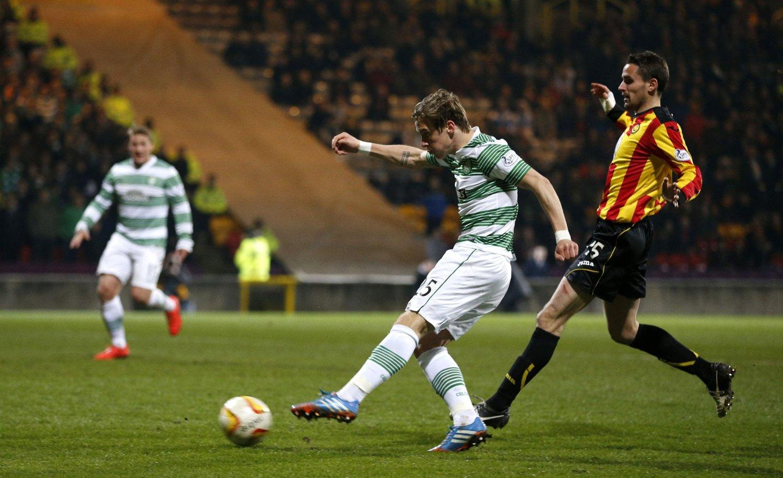 SCORET IGJEN: Stefan Johansen scoret nok et mål for Celtic.