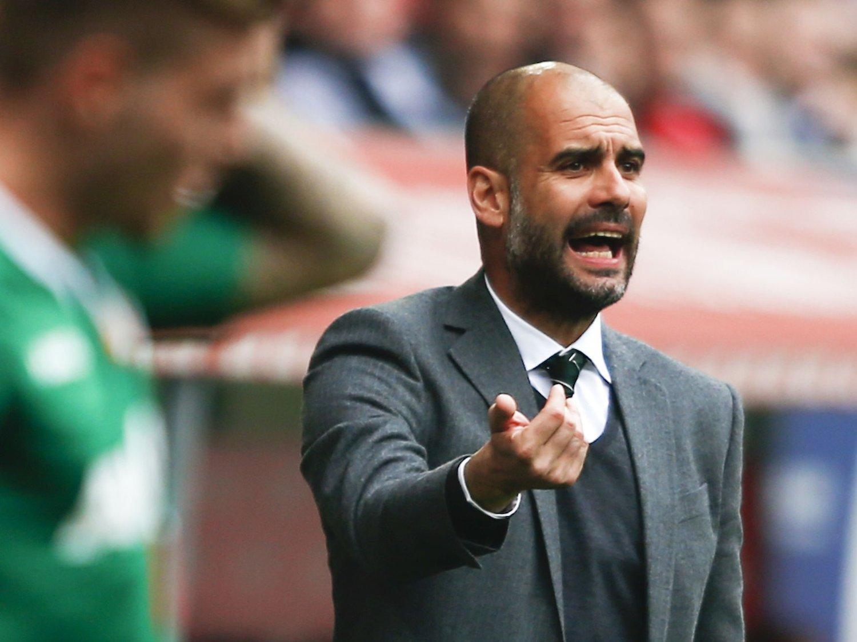 FORMSVIKT: Josep Guardiola fikk kjenne på en ny følelse da lille Augsburg vant borte i München lørdag.