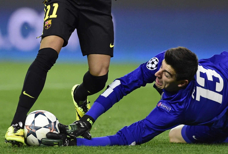 DILEMMA: Hvis Atletico Madrid møter Chelsea i Champions League må Thibaut Courtios stå over kampen.