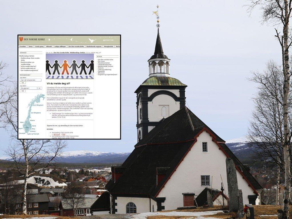 MELDER SEG UT: Statskirken, her representert ved Røros kirke i Sør-Trøndelag, opplever stor pågang på sine nettsider.