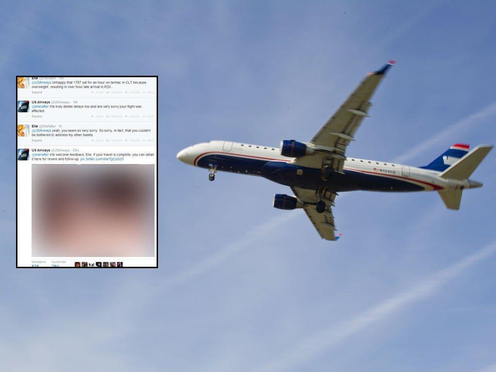 TABBE: US Airways la ut et grovt pornobilde på Twitter. Bildet er sladdet.