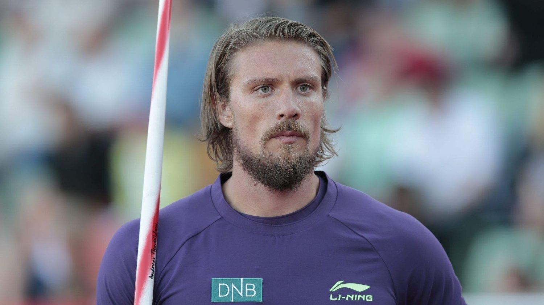 SIST: Andreas Thorkildsen ble sist i spydkastkonkuransen på Bislett Games torsdag kveld.