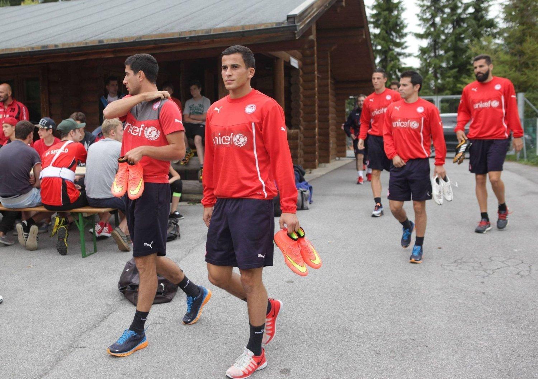 FORNØYD MED STARTEN: Omar Elabdellaoui forteller at de første ukene i Olympiakos har vært meget positive.