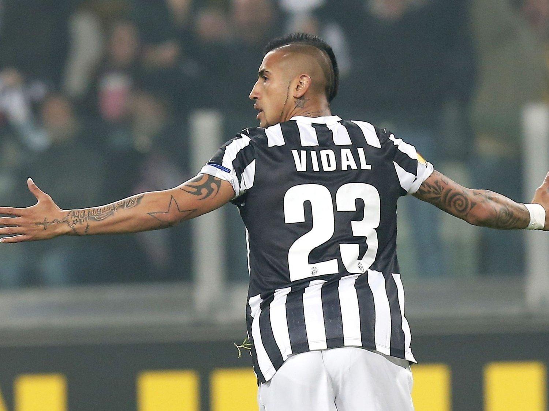 ØNSKET: Juventus Arturo Vidal er et hett navn på overgangsmarkedet.