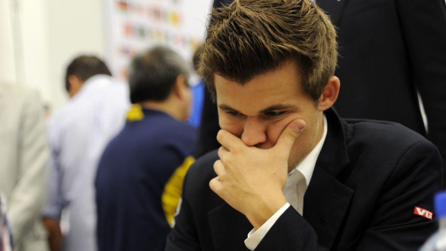 TAP: Det ble tap for Magnus Carlsen mot Ivan Saric fra Kroatia.