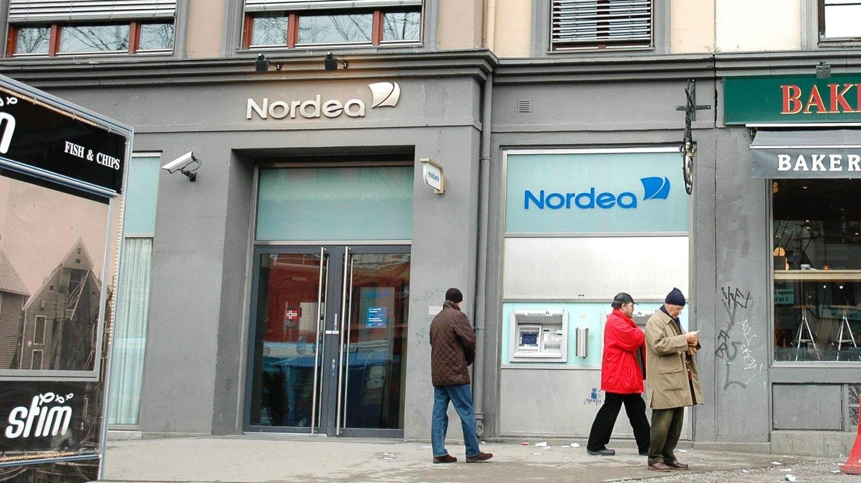 Nordea på Majorstuen ble ranet fredag ettermiddag.