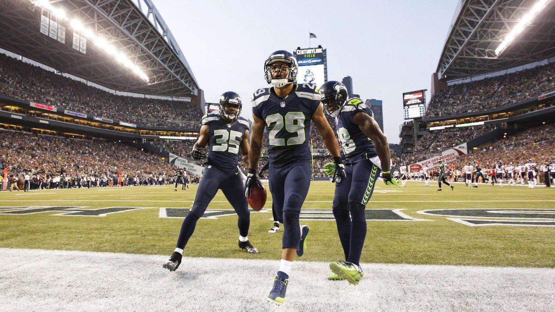 Earl Thomas (29) og Seattle Seahawks fikk en fin sesongåpning i NFL.