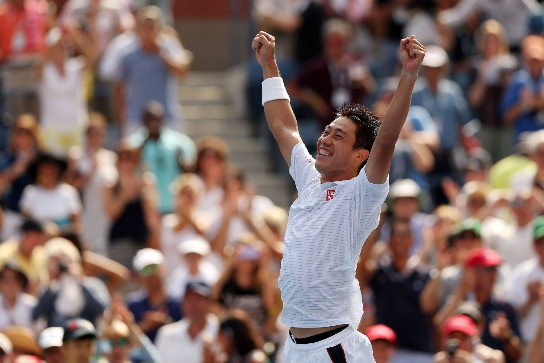 VANT: Kei Nishikori sjokkerte Novak Djokovic i semifinalen i US Open. Nå venter Roger Federer eller Marin Cilic i finalen.