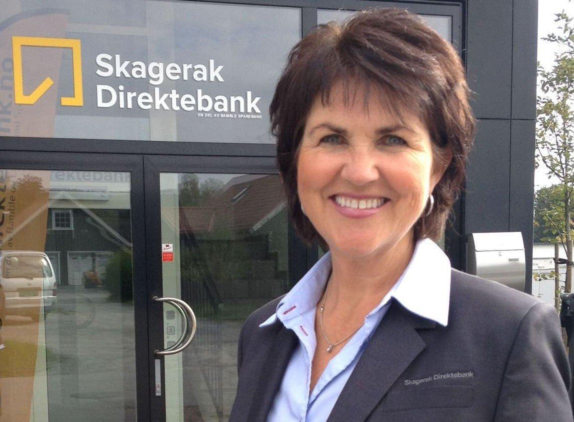 Grethe Isaksen Johansen er daglig leder i banken med ekstremt lav rente.
