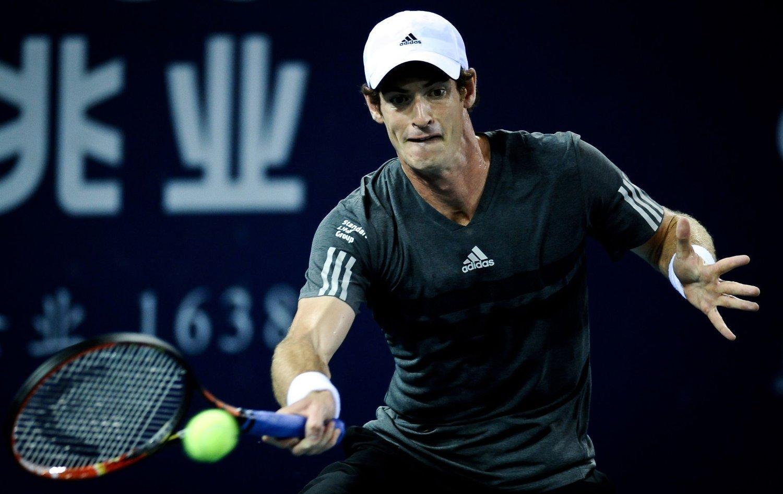 VANT: Andy Murray tok sin første seier siden fjorårets Wimbledon-triumf.