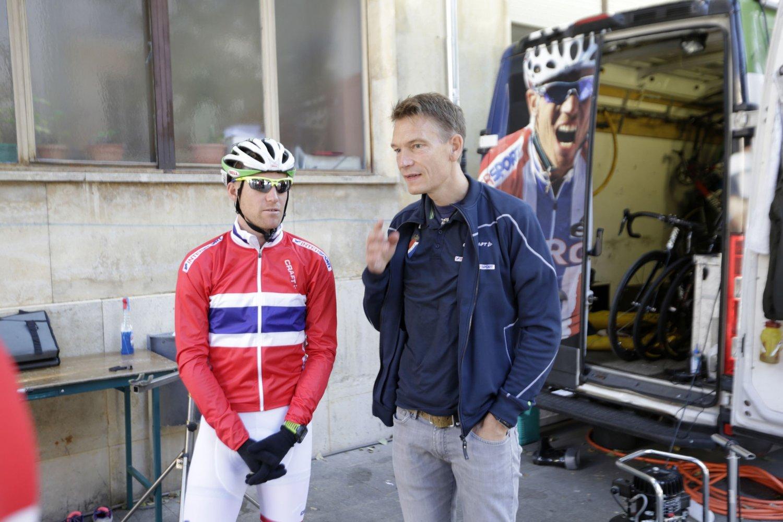 SYKEHUS: Stig Kristiansen måtte til sykehus etter krasj.