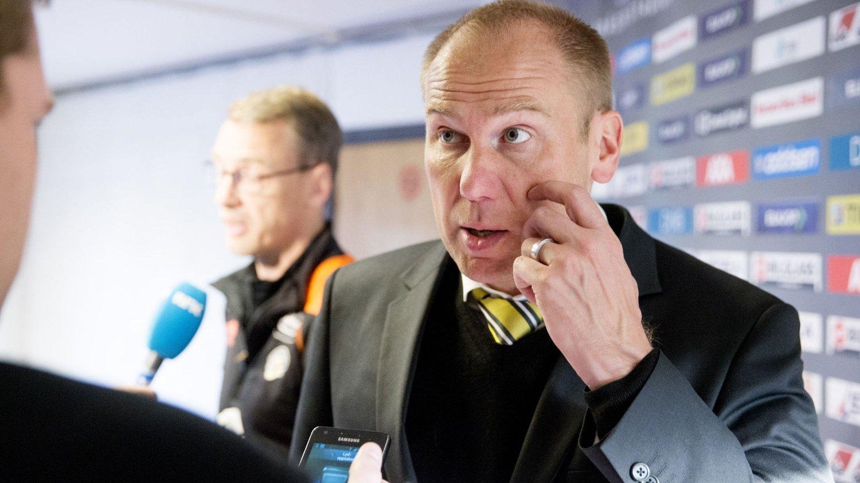 MERKELIG: Det mener Magnus Haglund om Stabæk-tapet. Her fra en tidligere kamp.