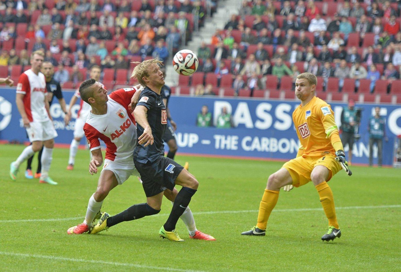 TAPTE: Per Ciljan Skjelbred og Hertha Berlin tapte 1-0 borte mot Augsburg.