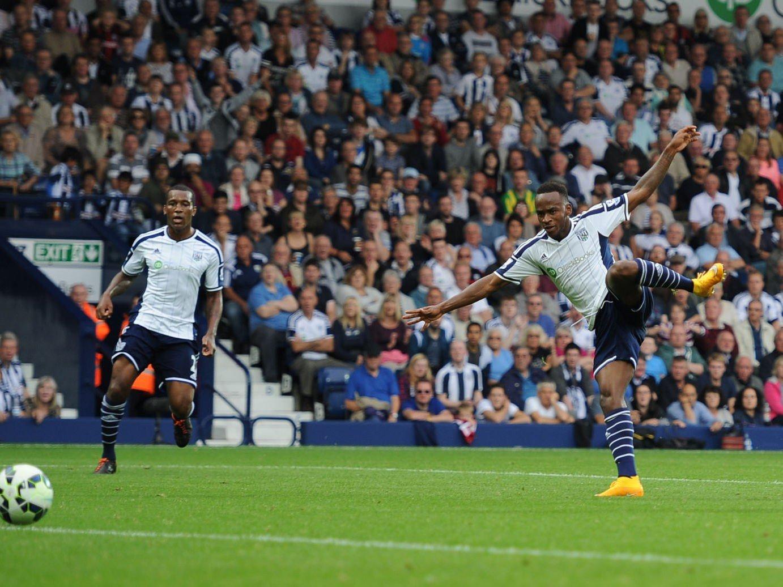 SCORET TO: Saido Berahino scoret to mål i 3-0-seieren over Burnley.