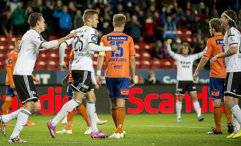SCORET: Hólmar Örn Eyjólfsson scoret sitt første mål for Rosenborg søndag.