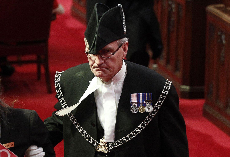 HELT: Sikkerhetssjefen i den canadiske nasjonalforsamlingen, Kevin Vickers, gikk selv ut på gangen og møtte gjerningsmannen.