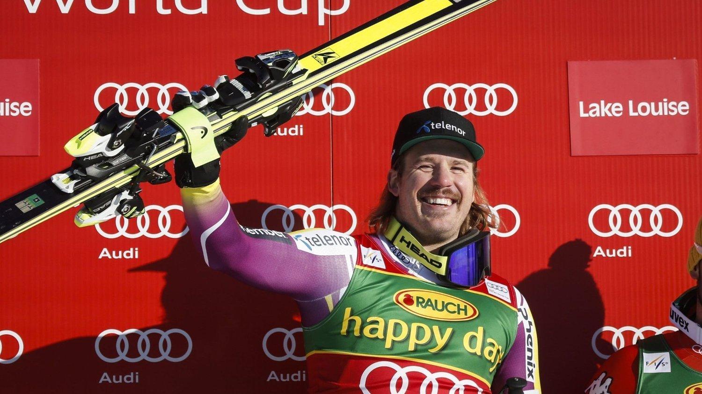 SUPERHELG: Kjetil Jansrud står igjen med to verdenscupseire etter rennene i kanadiske Lake Louise.