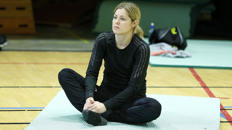 Anette Sagen utelukker ikke helt at hun satser mot vinter-OL i 2018. Her trener hun på Norges idrettshøgskole.