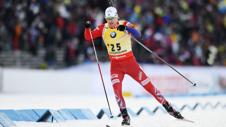 NÆR SEIEREN: Emil Hegle Svendsen fikk det ikke helt til å stemme i det avgjørende øyeblikket på siste skyting.