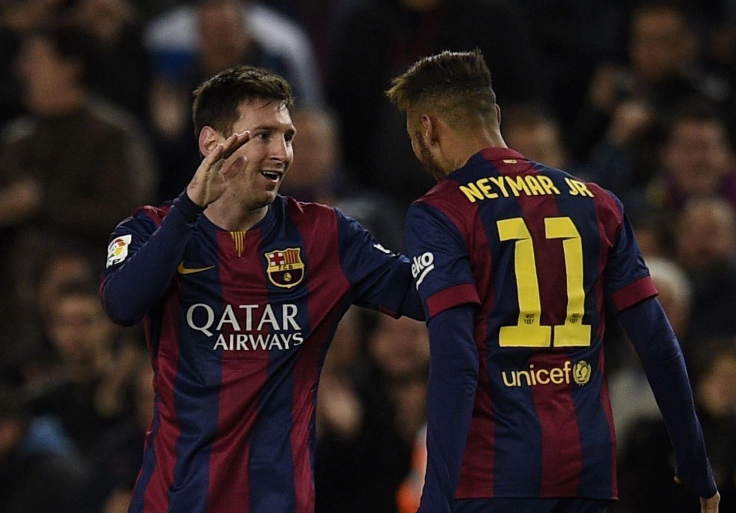SNUDDE KAMPEN: Lionel Messi ordnet tre poeng for Barcelona mot byrival Espanyol.