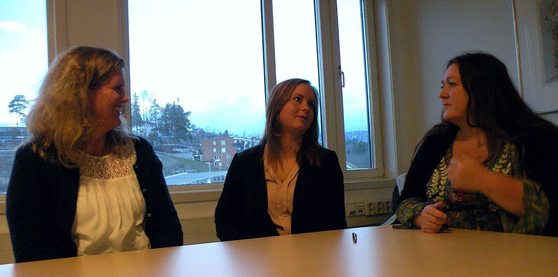 Kristine Berbom (f.v.), Ingvild S. Haugen og Tonje Tovik i Bydel Ullern er glad for at det nå tas grep for å hindre at unge i Oslo vest drikker alkohol.