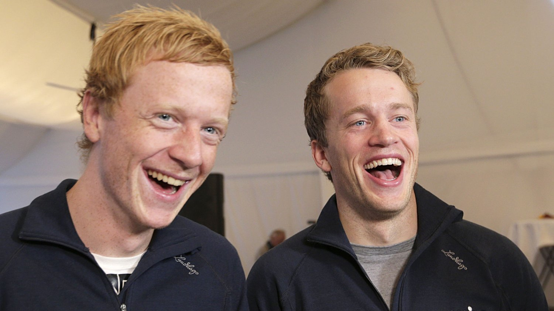 SKAL HJEM TIL JUL: Johannes Thingnes Bø (t.v.) og Tarjei Bø har tre renn igjen før juleferien.