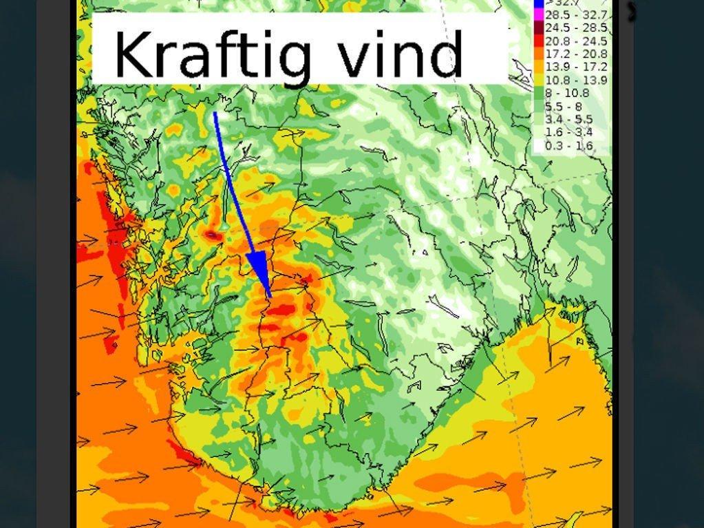 ADVARER: Meteorologisk institutt melder om vanskelige kjøreforhold i sørlige fjellområder i Sør-Norge fredag.