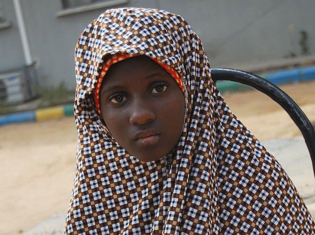SKULLE DØ: 13 år gamle Zahra'u Babangida ble sendt inn på en markedsplass i Kano med sprengstoff festet til kroppen. Babangida utløste ikke selvmordsvesten sin, og ble tatt hånd om av politiet.