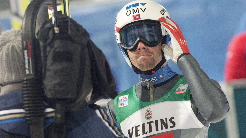 Anders Bardal i Bergiselbakken i Innsbruck i det tredje rennet i hoppuka for noen uker siden.