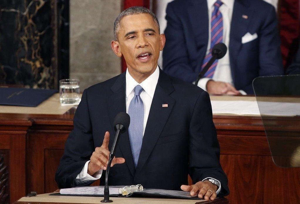 Bedringen i den amerikanske økonomien ble framhevet av president Barack Obama i talen om rikets tilstand