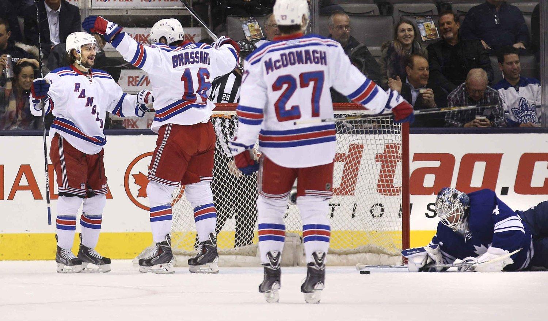 MATCHVINNER: Mats Zuccarello avgjorde kampen mot Toronto Maple Leafs.