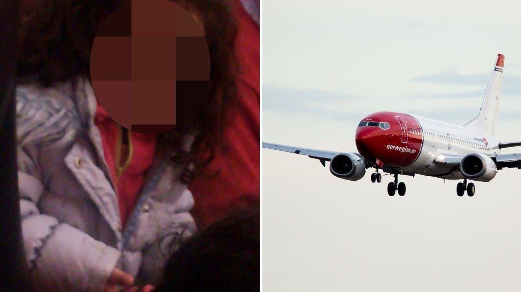 En mor og hennes to barn som er født i Norge, jente på fire (bildet) og baby på seks måneder, ble mandag tvangssendt fra Norge til Afghanistan.