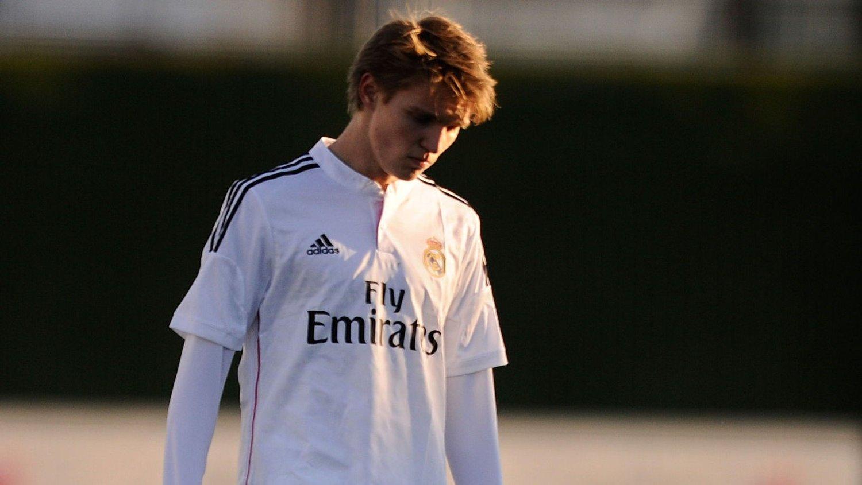 BYTTET UT: Martin Ødegaard fikk spille fra start for Real Madrid Castilla, men hadde ingen stor førsteomgang og ble byttet ut ved pause.