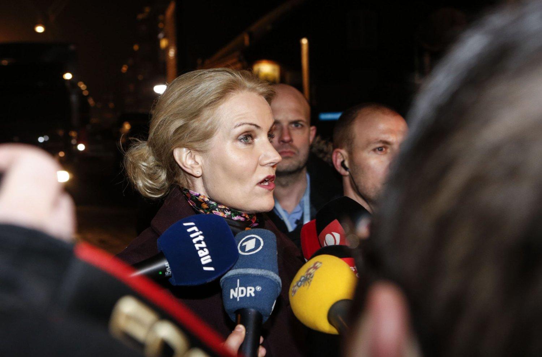 Danmarks statsminister Helle Thorning-Schmidt møtte pressen ved kulturhuset Krudttønden lørdag.