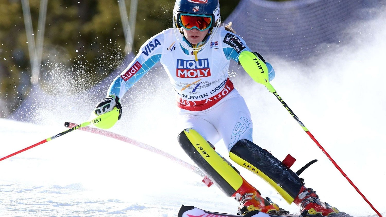 TOK VM-GULL: Hjemmefavoritten Mikaela Shiffrin taklet presset og kjørte inn til gullmedalje under lørdagens slalåmrenn.