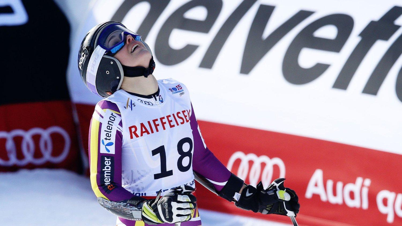 SKUFFET. Nina Løseth var ikke fornøyd med lørdagens slalåmrenn.