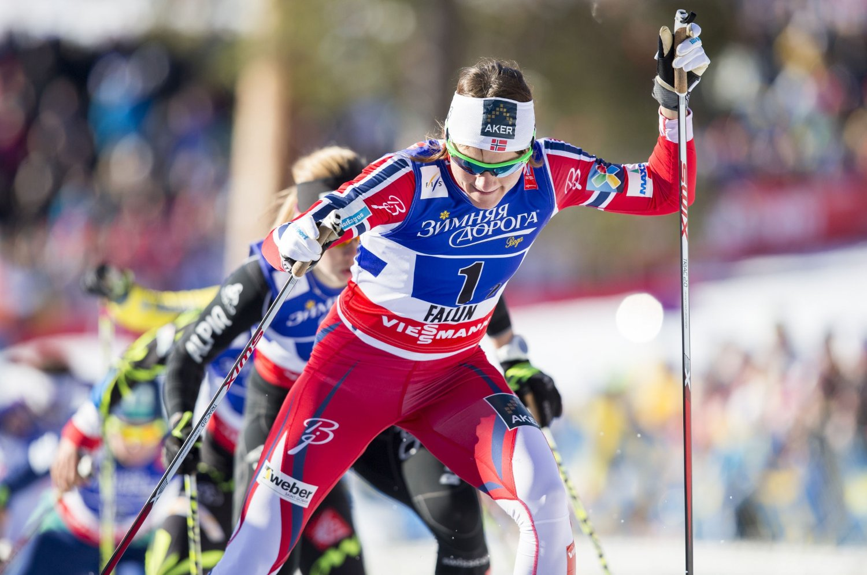 FINALEKLAR: Maiken Caspersen Falla er klar for lagsprintfinale sammen med Ingvild Flugstad Østberg.