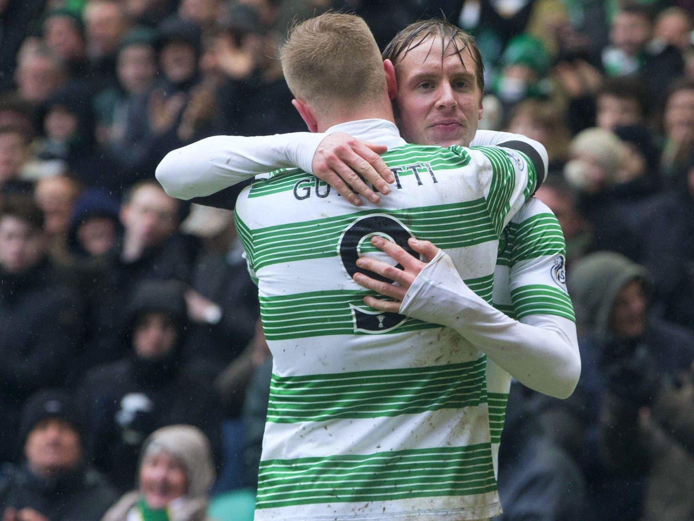 LØSNET ETTER PAUSEN: Stefan Johansen trygget nervene med 2-0-målet da Celtic til slutt vant komfortabelt i ligakampen mot Hamilton Academical søndag.