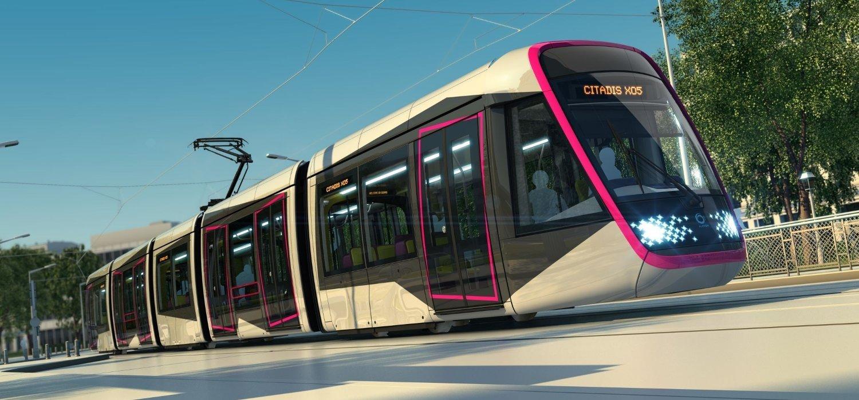 Slik ser en av trikkene til franske Alstom. Dette kan være et av alternativene som vurderes i Oslo.