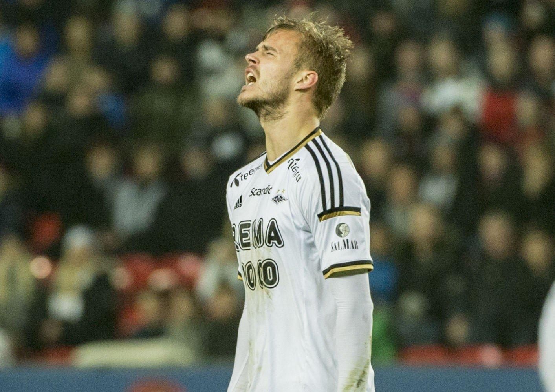 SKADET: Rosenborgs Holmar Eyjolfsson.
